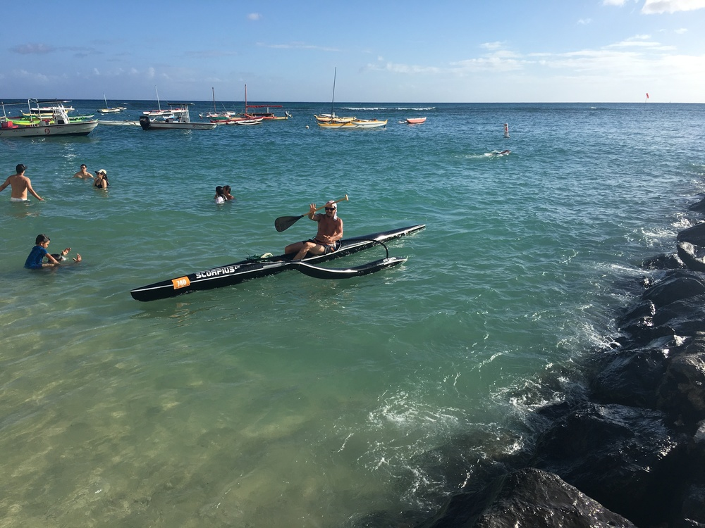 PRIVATE OUTRIGGER CANOE LESSON OC1 men canoe OC2 men canoe OC4 Canoe surfing Details comming soon, please contact me direcly 808 349 14 68