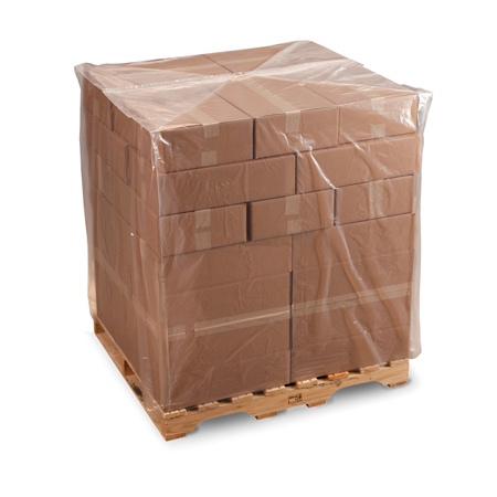 Pallet Covers available in clear and black.