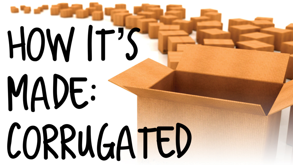 How corrugated boxes are made