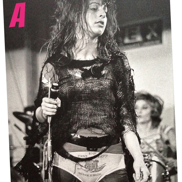 A is for Ari Up of The Slits.  Photograph Ian Dickson.