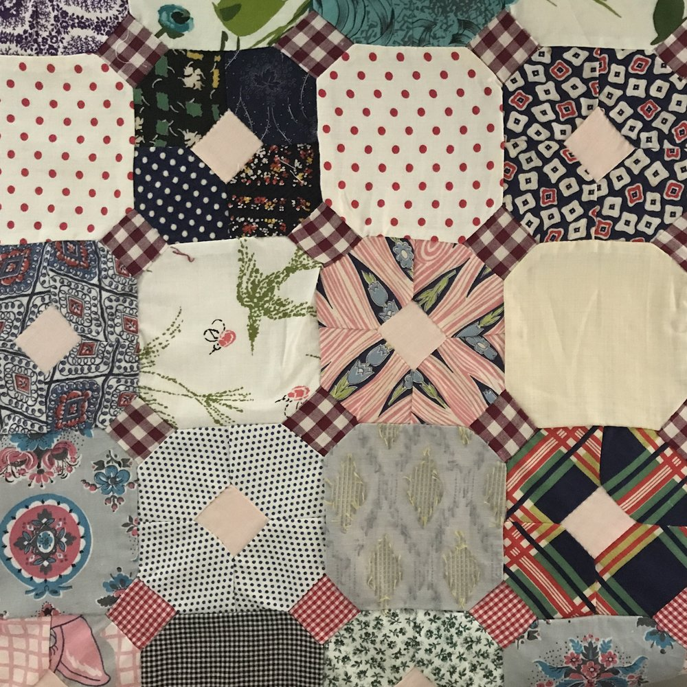 Thelma Davison's original quilt top.