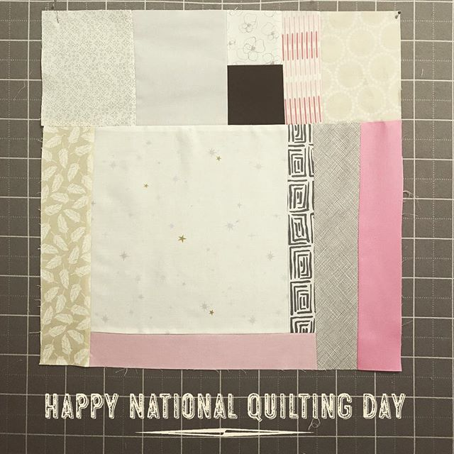 Another part of something. Happy National Quilting Day, everyone!  #nationalquiltingday #sfmqg #BQE #fortlauderdale #browardcounty #florida #quilter #improv #quiltshow