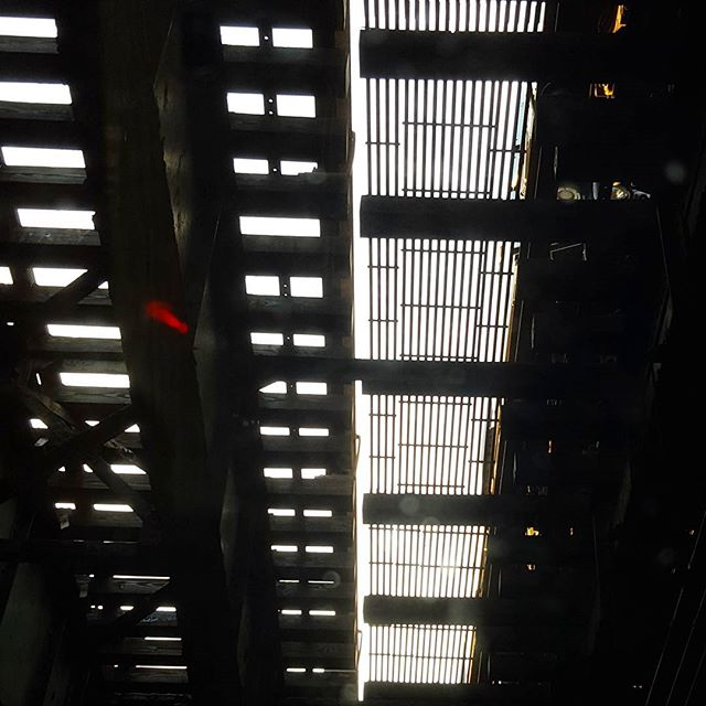 Under the Elevated. #patterns #train #tracks #graphic #inspiration #blackandwhite #light #urbanlandscape