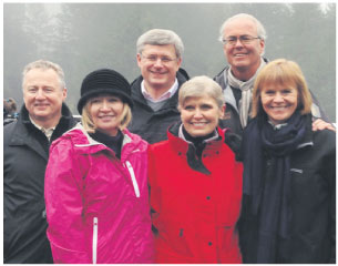 From L to R: Paul LaBarge (chair, TCT); Mrs. Laureen Harper (Honorary Campaign Chair); The Right Honourable Stephen Harper, Prime Minister of Canada; Deborah Apps (president & CEO, TCT); Hartley Richardson and Valerie Pringle (co-chairs, TCT Foundation).