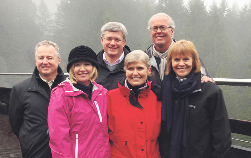 From L to R: Paul LaBarge (chair, TCT); Mrs. Laureen Harper (Honorary Campaign Chair); Prime Minister Stephen Harper; Deborah Apps (president & CEO, TCT); Hartley Richardson and Valerie Pringle (co-chairs, TCT Foundation). Photo supplied