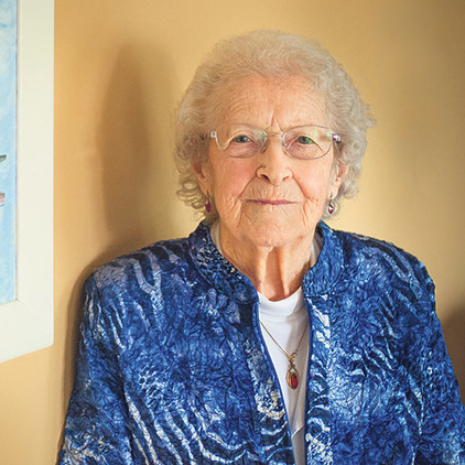 95-year-old Nina McLachlan shares her passion through art.