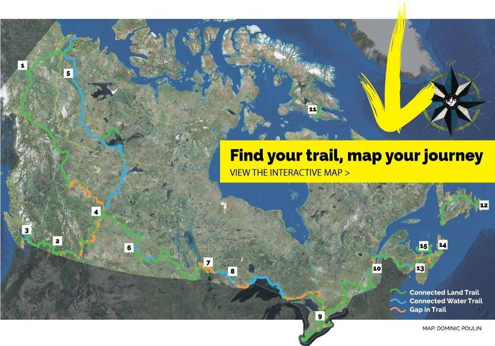 Great Canadian Trails Trans Canada Trail