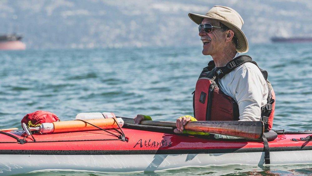 Robert Holley, a BC Marine Trail board member and keen kayaker.