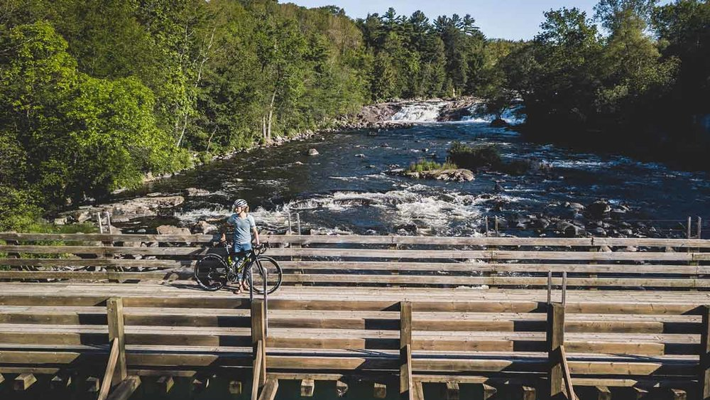 Maghalie Rochette cycling The Great Trail