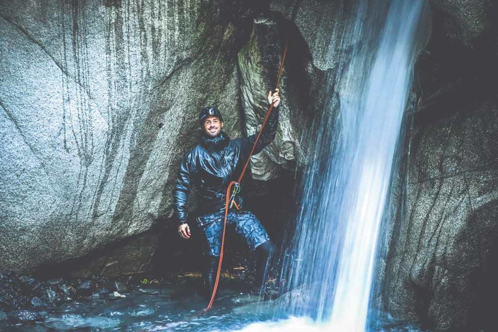 Outdoor adventurer Ricky Forbes found canyoneering near Squamish both exciting and deeply moving.  SUPPLIED