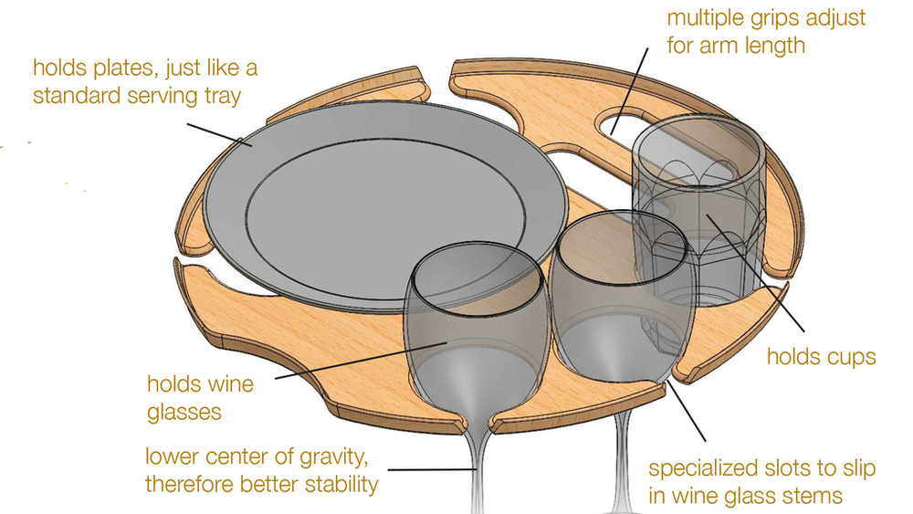 An original CAD (computer aided design)drawing of the now-patentedtray