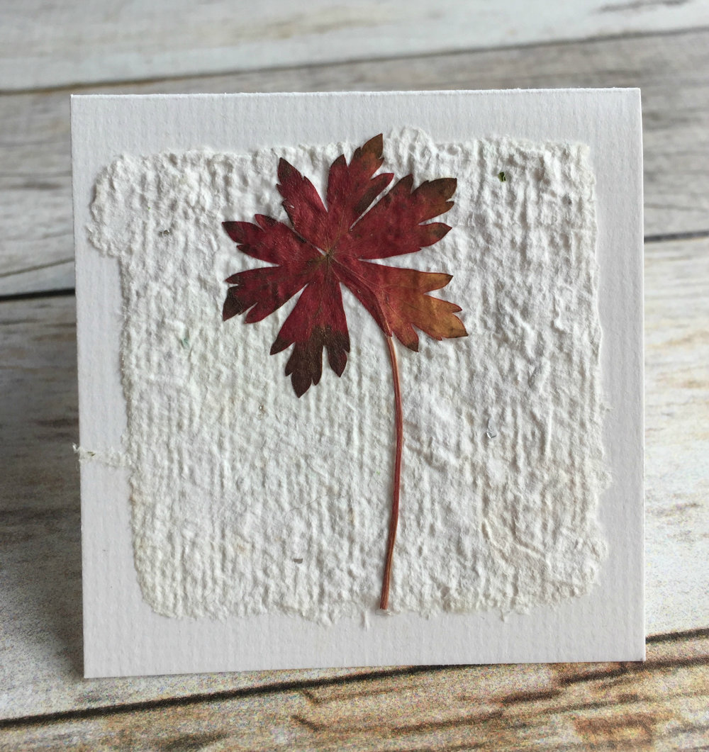 autumn leaf gift tag