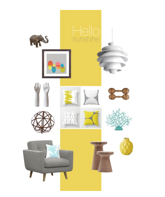 Hello Sunshine • yellow and gray color scheme
