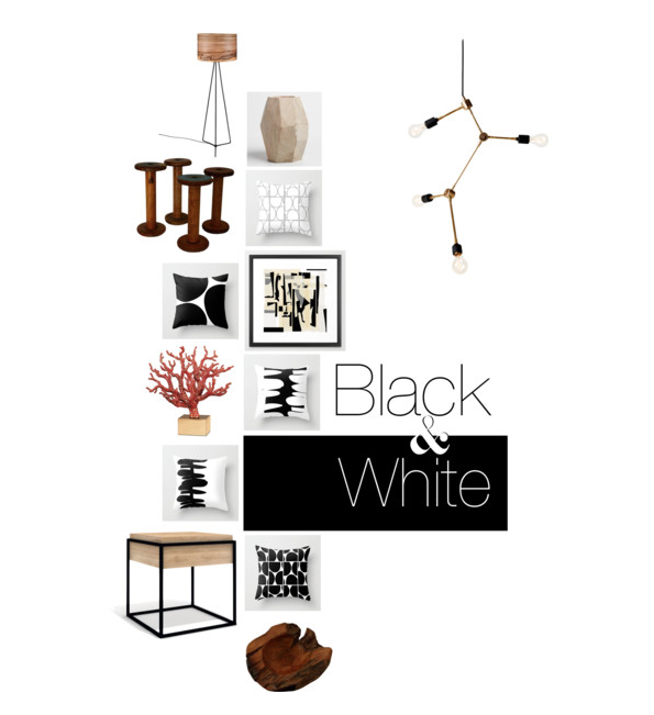 Black & white home decor