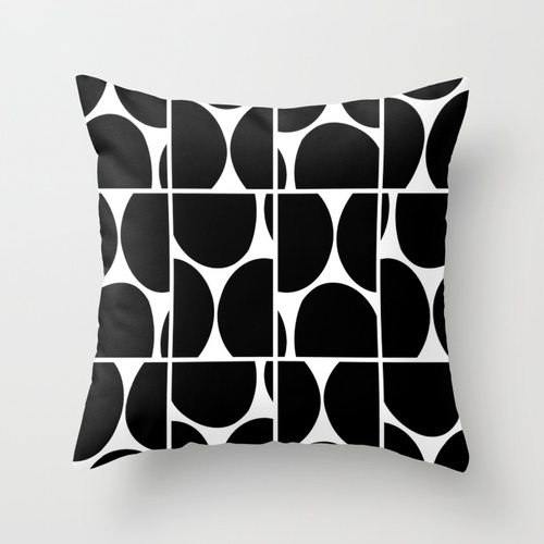 Dots Squared B&W pillow