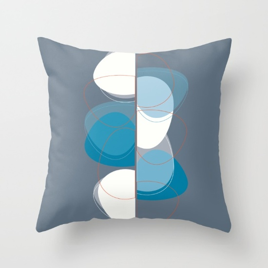 Ghost in You in blue pillow