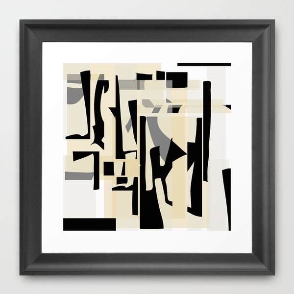 Fragments Deconstruction framed print