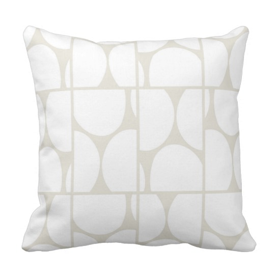 Dots Squared white & gray throw pillow
