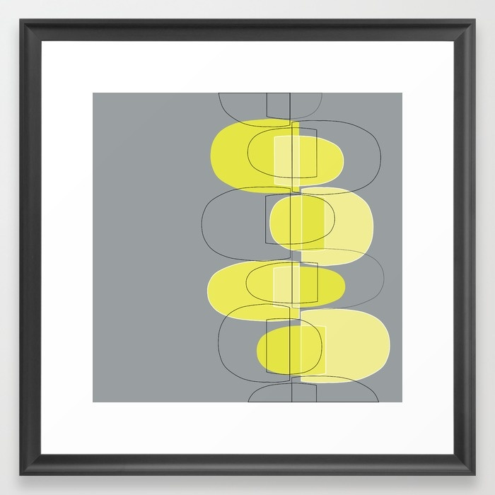 Mod Pods yellow framed art print