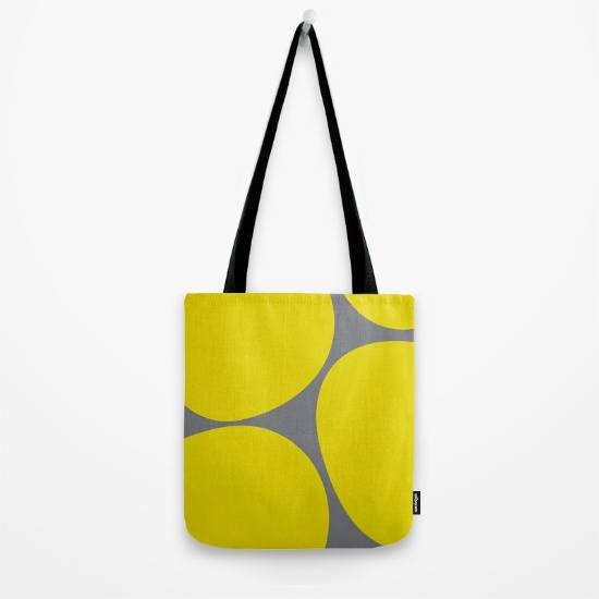 Big Dots in yellow   society6.com