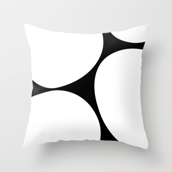 Big Dots in white throw pillow   society6.com