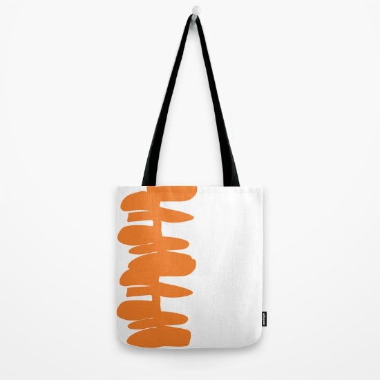 Stacked Up in orange tote mag   society6.com