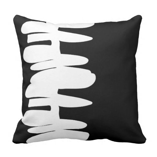 Stacked Up reverse throw pillow   zazzle.com