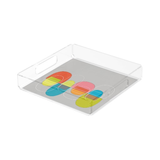 Mod Pods Multicolor acrylic tray  zazzle.com