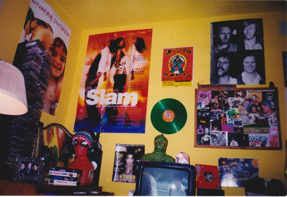 I'd gotten a bit better at wall collages by then. I even made the clock from an old Flaming Lips album.