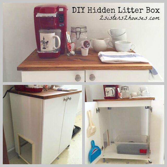 diy hidden cat litter box cat litter cabinet diy