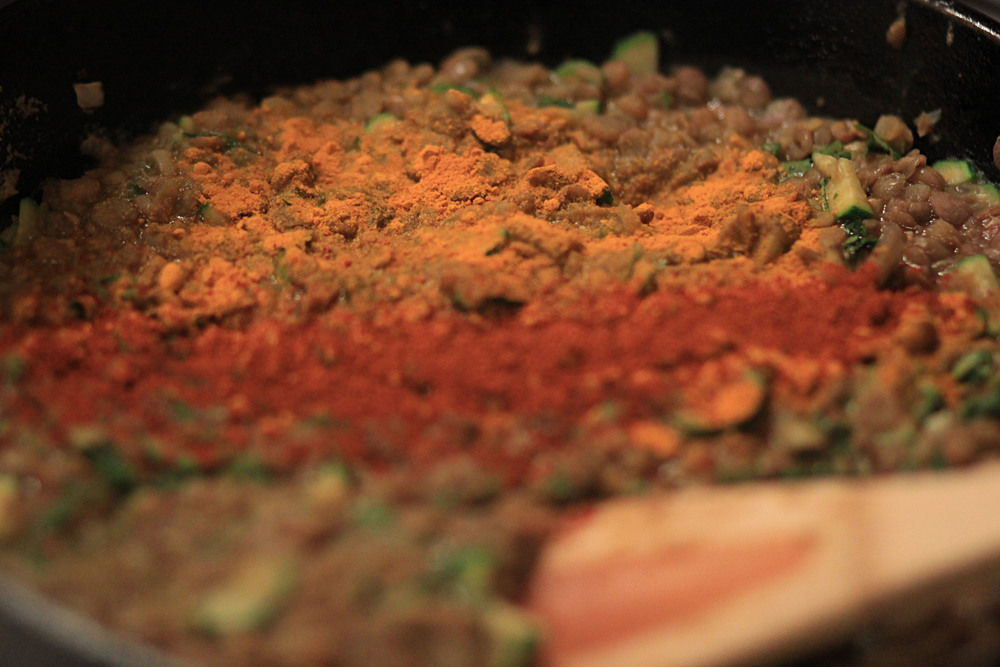One of the beautiful things when cooking with spices is the unbelievable colors - not to mention the taste!