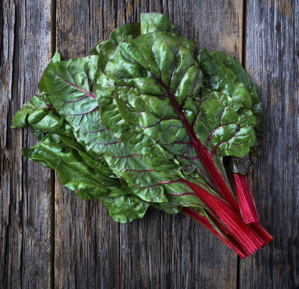 The Swiss chard is a descendant from the sea beet,Beta vulgarisand its leaves and stalks can be easily consumed.