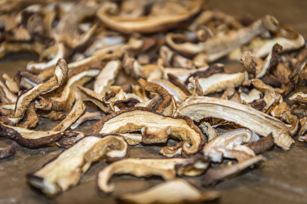 You can get fresh whole shiitkaes and slice them up, pre-sliced shiitakes and also dried shiitakes for this dish.