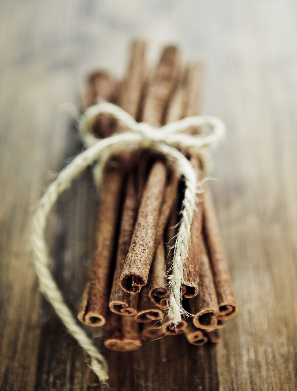 Sprinkle in some ground cinnamon and add some sticks of almond for garnish.