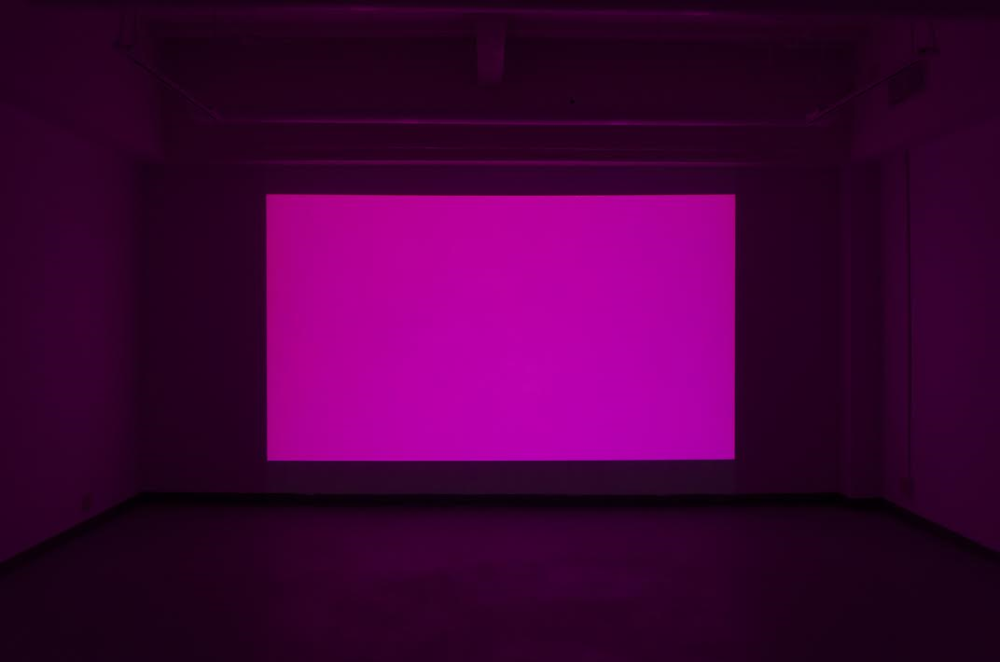 Cindy Hinant,  1 Night in Paris , HD Digital Video, Color, Sound, 2014. Installation View at Can't Complain Gallery, Guelph, Ontario, 2015. Photo Credit: Kenneth Jeffrey.