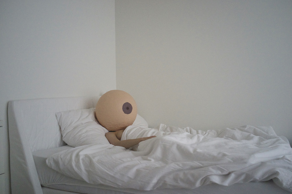 "Annique Delphine,   Self-Portrait in Bed   from the series ""Objectify Me,""   C-Print, 2015"
