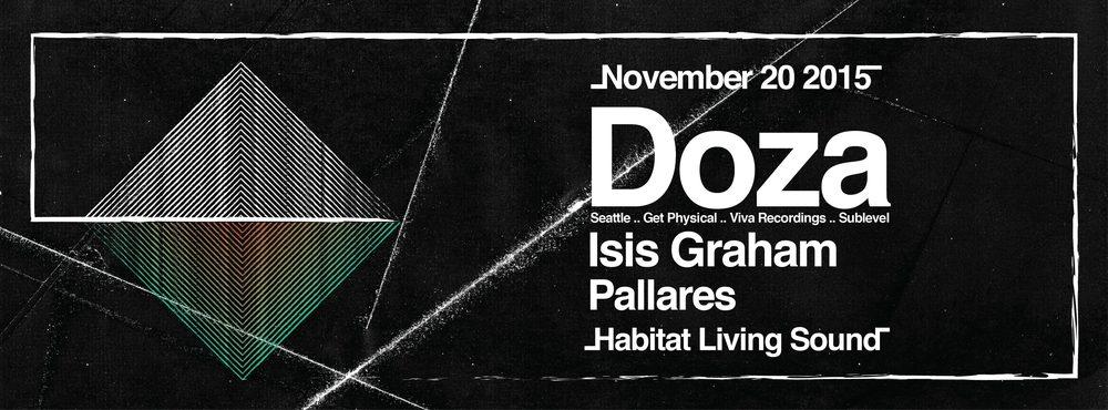 NOV 20 - DOZA / ISIS GRAHAM / PALLARES AT HABITAT LIVING SOUND