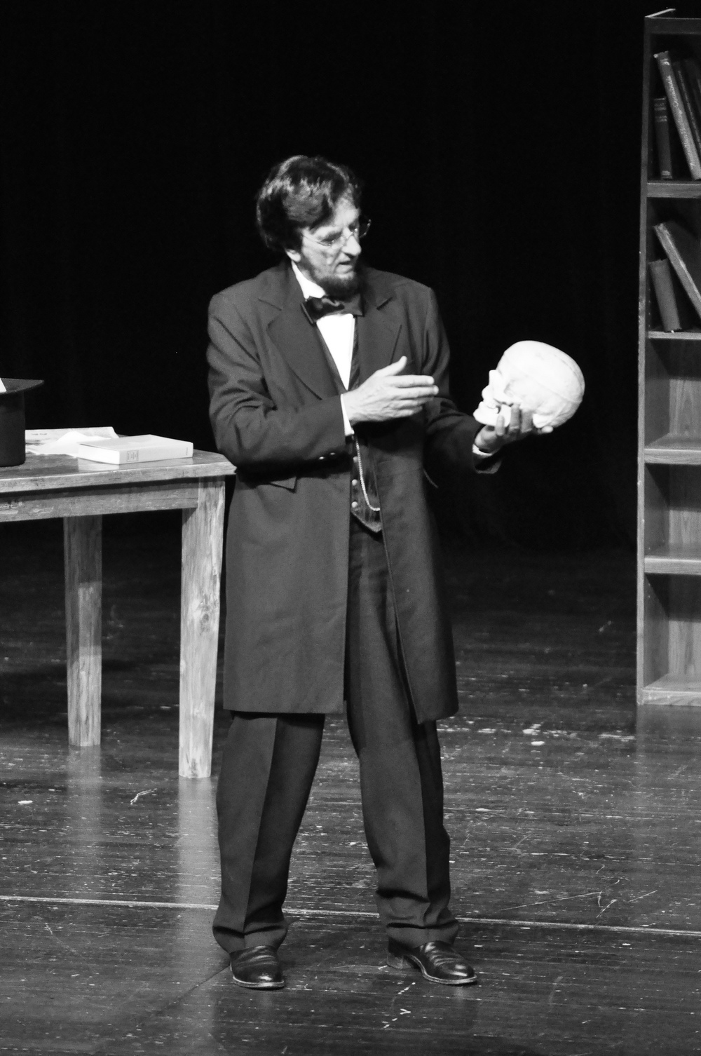 Lonn Pressnall portraying Lincoln at the Last Frontier Theatre Conference in Valdez, Alaska