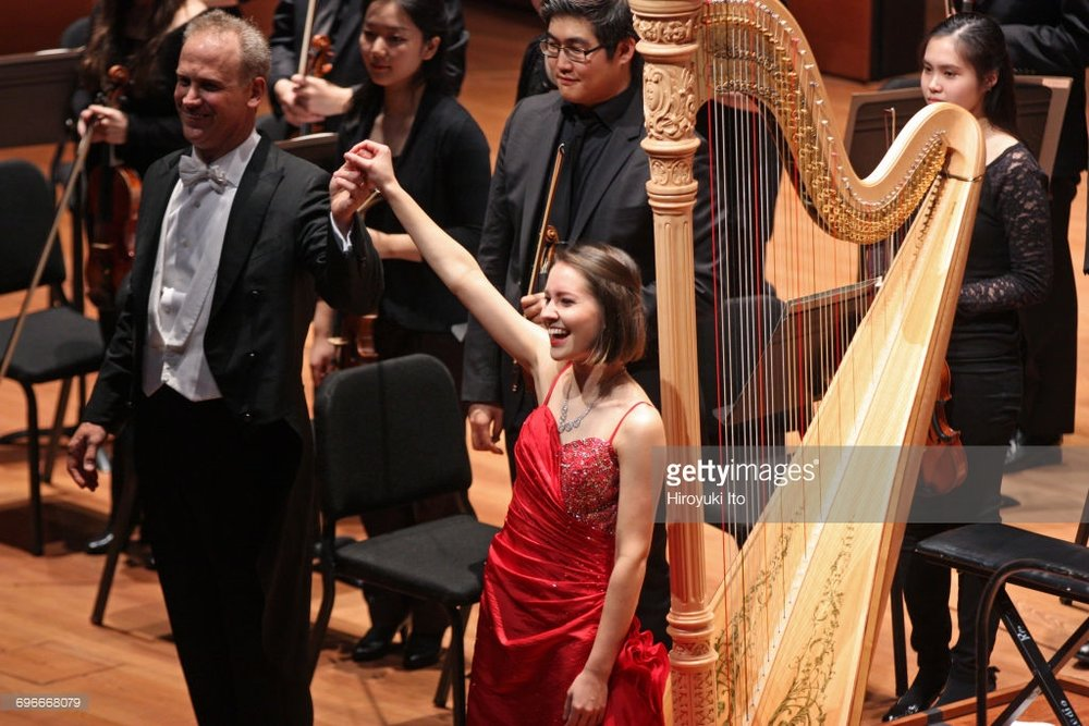 Performing Alberto Ginastera's 'Concerto for Harp' with the Juilliard Orchestra led by Carlos Miguel Prieto at Alice Tully Hall in the Focus! Festival on January 27, 2017