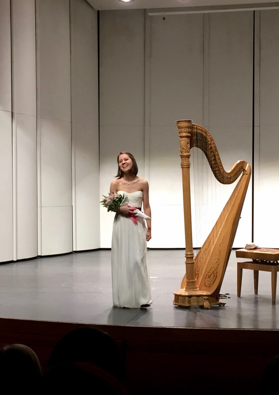 After a solo recital at Carnegie Mellon University, 2017