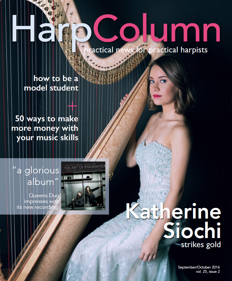 On the cover of Harp Column Magazine Sep/Oct 2016 Issue