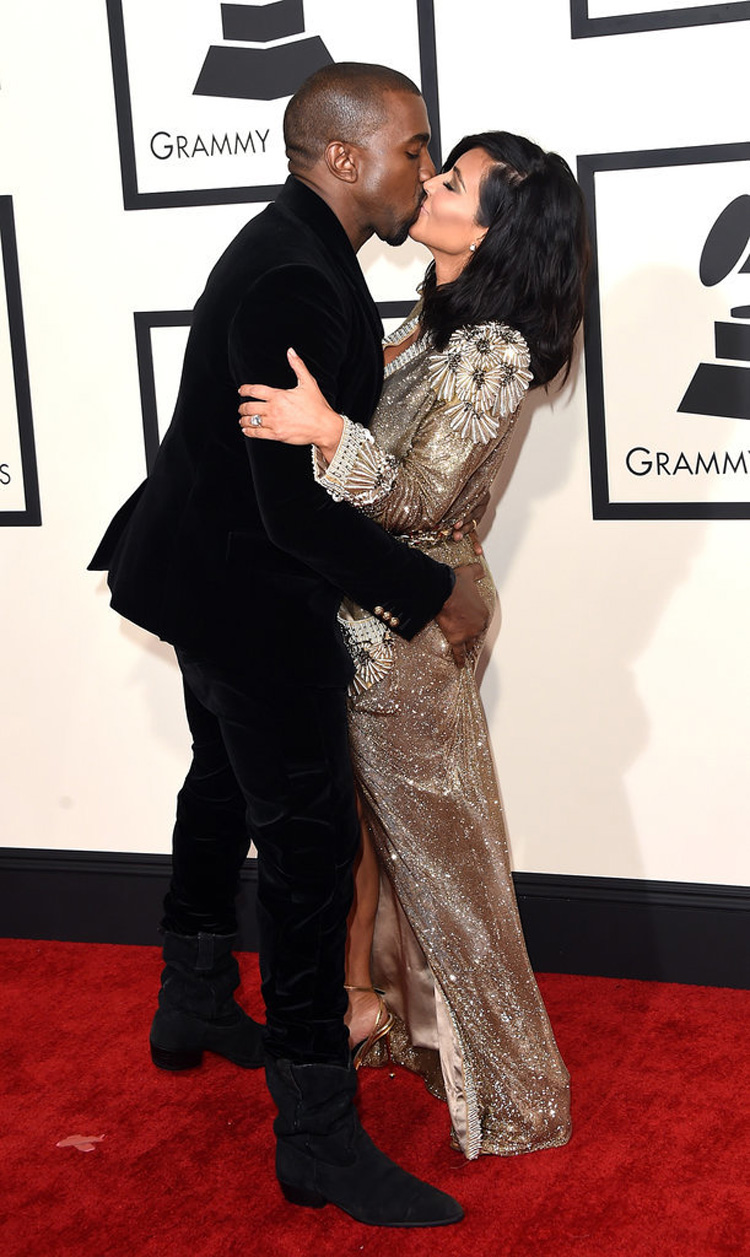 Source: http://www.popsugar.com/celebrity/Kim-Kardashian-Kanye-West-Grammys-2015-36819715#photo-36819715