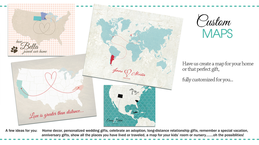 Custom Designed World And Usa Maps For Any Occasion The Here And - Make-your-own-us-map