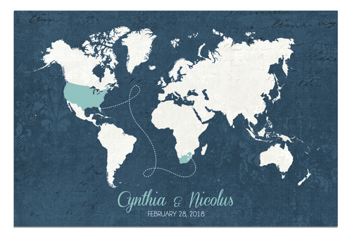Wedding guestbook alternative designs guestbooks wedding decor wedding guest book the blues map gumiabroncs Image collections