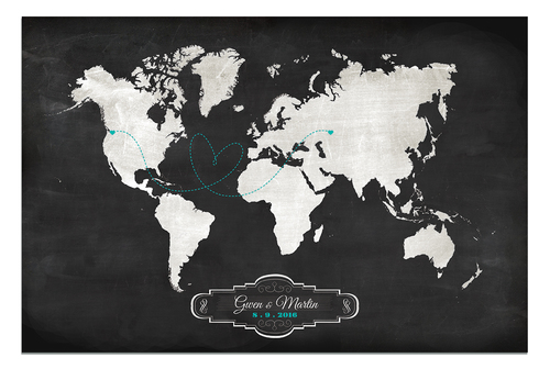 Wedding guestbook alternative designs guestbooks wedding decor wedding guest book chalkboard style map gumiabroncs Images
