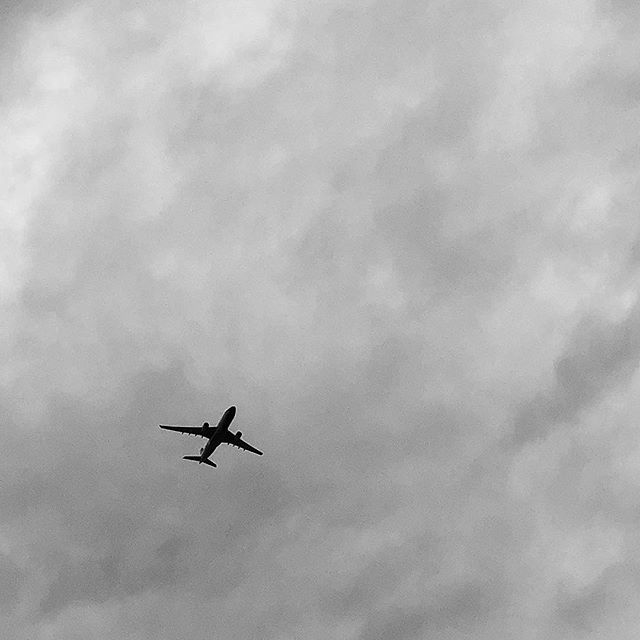 Lets hope today doesn't turn into another 15 hour adventure? #kthx @Delta 🛫✈️ . . . #airport #airplane  #blackandwhite  #clouds #NYC #bnwphotography