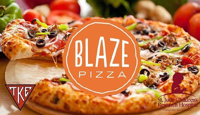 Good morning and welcome to Day 3 of TKE Sweetheart ❤️ Tonight is the BLAZE PIZZA FUNDRAISER from 6-10PM, so slay those midterms, then come feast with us! Be sure to check our Instagram Story for the flyer: you MUST present it before your purchase for it to count towards St. Jude's Children's Research Hospital! We hope to see y'all there!