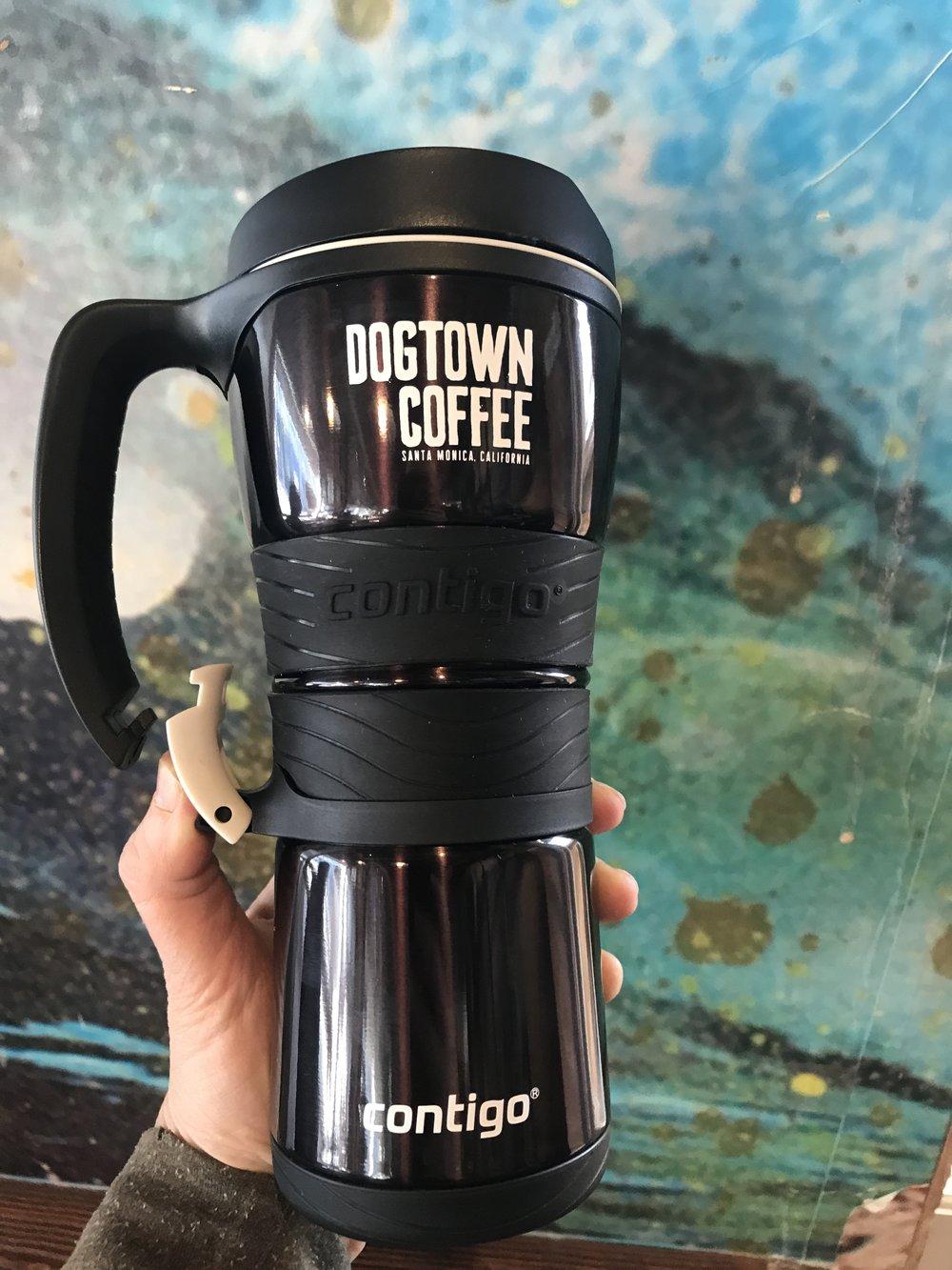 e7caccfa145 THERMALOCK™ Extreme 16 oz Travel Mug w Carabineer Clip-on Handle — Dogtown  Coffee + Food Santa Monica