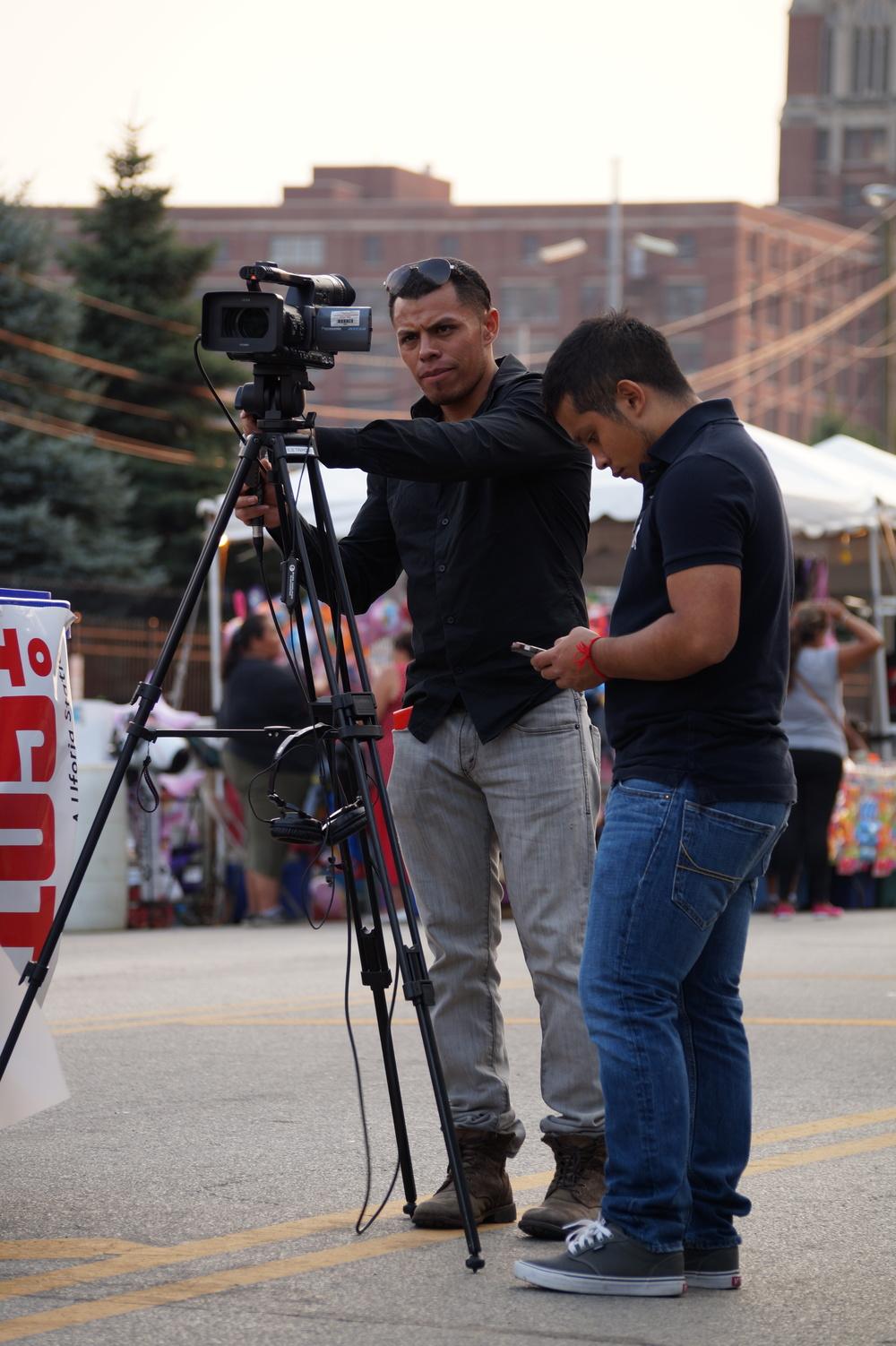 Videographer at Fiesta del Sol 2014
