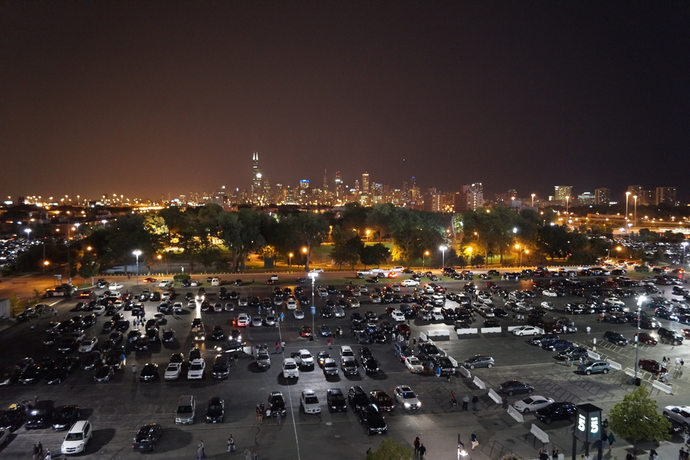 U.S. Cellular Field Parking Lot At Night
